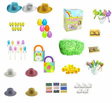 Easter Bonnet Arts & Craft Decoration (Choice of Chicks, Bunny, Eggs, Ribbons)