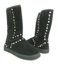 Studded Style & Co. Bolted Wmns Blck Suede Winter Comfy Boot New With Box