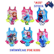 NEW KIDS ONE-PIECE SWIMSUIT CUTE GIRLS FROZEN ANNE ELSA SWIMWEAR BATHERS BEACH
