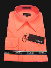 NEW Mens Coral Long sleeve Dress Shirt All Sizes, Length