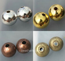 200pcs Smooth Seamless Copper Spacer Beads 3mm
