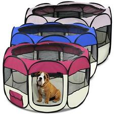 "45"" Soft Kennel Pet Fence Puppy Dog Playpen Exercise Pen Folding Crate New"
