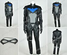 Young Justice Cosplay Nightwing Costume Jumpsuit Outfit  Black Version Well Made