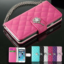 New Bling Leather Credit Card Holder Wallet Flip Case Cover For Smart Cellphone