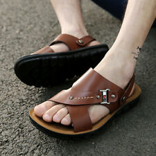 Men Flat Synthetic Leather Sandals outdoor Beach Slipper Shoes  Flip Flops