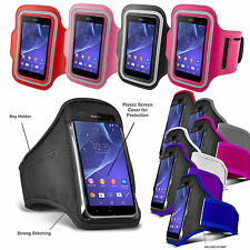 GYM Work Out Sports Running ARMBAND Cover Key Holder For Various Mobile Phone