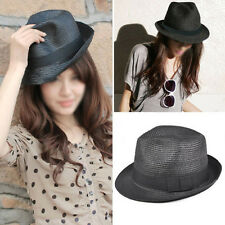 Straw Hat - Trilby Style Crushable Summer Sun Mens Ladies  WT