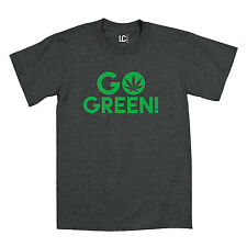 Go Green Marijuana Leaf Pot Weed Smoke 420 Legal Tee  Mens T-Shirt