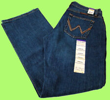 Womens Wrangler 2nds Q Baby Mid Rise Boot Cut Tuff Buck Stretch Jeans Any Size