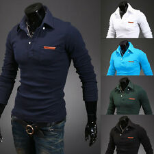 F New Men's Casual Slim Fit V-neck Knitted Cardigan Pullover Jumper Sweater Tops
