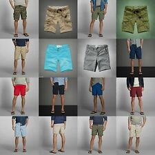 ABERCROMBIE & FITCH MEN SHORTS NWT Preppy CARGO Classic BLUE GREEN RED GRAY new
