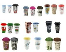 Insulated Ceramic Travel  Mug, Mugs for tea, coffee  and other drinks etc