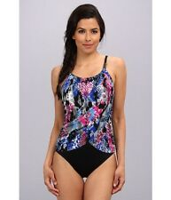 NWT Magic Suit by Miraclesuit Slimming Drape One-Piece Swimsuit Underwire Sz 16