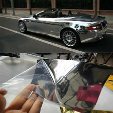 Silver Chrome Mirror Vinyl Wrap Film Cover Car Sticker Decal Sheet Bubble Free