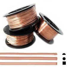 Copper Wire Half Hard, 12 14 16 18 19 20 21 22 24 Gauge, Round Square Half Round