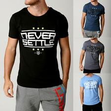Mens NEVER SETTLE Tshirts Gym Tees Designer Threads Swag