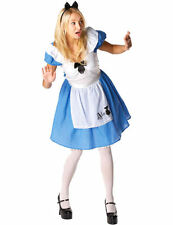 Disney Alice in Wonderland Costume Ladies Fancy Dress Fairytale Outfit