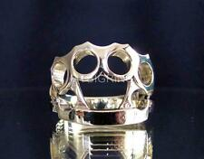 STYLISH HIGH POLISHED ONE FINGER BRONZE RING THE BRASS KNUCKLE DUSTER ANY SIZE