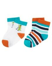 GYMBOREE PLAIDS AND ALLIGATORS STRIPE GATOR 2-PAIR OF BOYS SOCKS 0 3 6 12 18 NWT