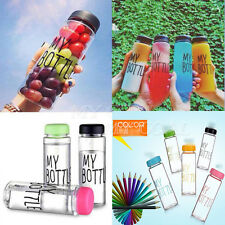 500ML Drinks Fruit Juice Water Bottle Special Sport My Bottle Tumbler Colorful