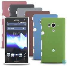 Thin Rubberized QuickSand matte hard shell back case For Various Sony Cellphone