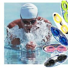 Outdoor Waterproof Sealed Diving Swimming Glasses Goggles w/ Earplugs Nose Clip