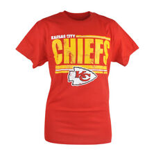 NFL Kansas City Chiefs Hawk Distressed Mens Tshirt Red Football Shirt Tee