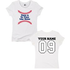 There Is No Place Like Home Base Baseball Adult Sports Athlete Womens T-Shirt