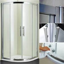 SHOWER ENCLOSURE QUADRANT CORNER WALK IN CUBICLE WITH TRAY AND WASTE 6mm GLASS