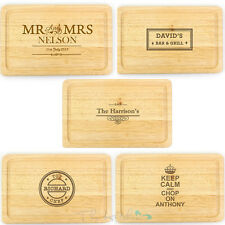 Personalised Chopping Board Chef, Baker, Cook Gift Idea - Engraved Worktop Saver