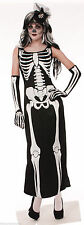 Adult Bone Collection Skeleton Dress Cosplay Halloween Costume Fancy Dress