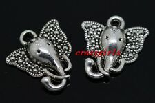10/40/240pcs Tibet Silver elephant head Jewelry Finding Charms pendant 16x15mm