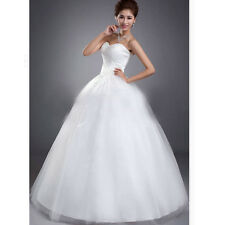 Mermaid White/ivory Sleeveless Wedding Dress Custom Size:4 6 8 10 12 14 16 18
