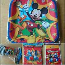 Disney Mickey Mouse Birthday Party Table Napkins Plates Cups Loot Bags Boys Blue