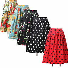 Jive Swing 50s VINTAGE Style VICTORIAN Rockabilly Pinup Lady's Party Dress Skirt