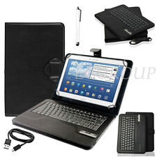 "Black Bluetooth Keyboard Leather Stand Case Cover For 7"" 8"" 10"" 10.1"" Tablets PC"