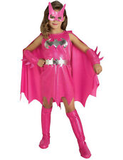 Child Pink Batgirl Superhero Kids Girls Party Outfit Fancy Dress Costume