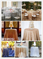 "New listing !!! Sequin Tablecloth 48"" - 132'' Round for Wedding/ Dessert Table"
