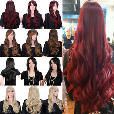 Anime Cosplay Full Wigs with Bang Curly Wavy Straight 12Color Fashion Wig UPS CA