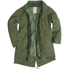 Mil-Tec M65 Army Fishtail Shell Parka Military Vintage Mens Lined Jacket Olive