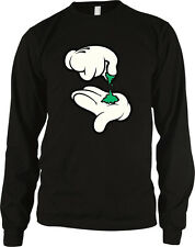 Gloved Mickey Mouse Hands Pinch Weed Pot Marijuana Bowl Vape Load Men's Thermal