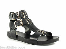 Vince Camuto Pixe Black Lizard Embossed Calf Leather Gladiator Sandals Size 8