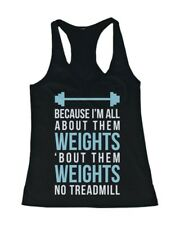 Women's Workout Tanks Workout Fitness Gym shirts Unisex - All About Them Weights