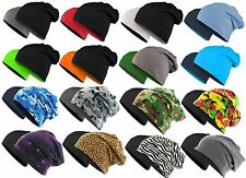 Master Dis Jersey Beanie Reversible Printed Slouch Long Ski Winter Turn Hat