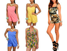 NEW Lot Womens Overall Vintage Romper Jumpsuit Catsuit Jumper Bodycon S M L XL