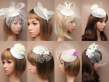 CREAM FASCINATOR, WEDDING, PROM, RACES, ASCOT - SPECIAL END OF SEASON RANGE