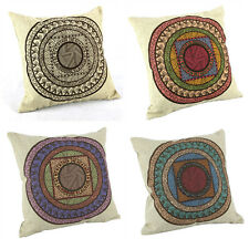 Patchwork Floral Waist Linen Throw Pillow Cases Home Decor Cushion Cover Square