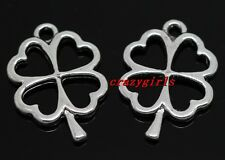 10/40/240pcs Tibetan Silver Jewelry Finding leaves charms pendant DIY 25x17mm