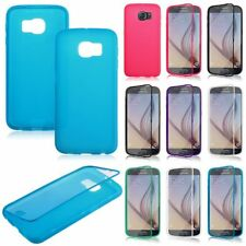 TPU Wrap Up Case Cover w Built In Screen Protector for Samsung Galaxy S6 SM-G920