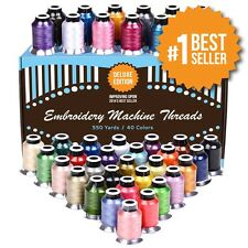 Polyester Embroidery Thread 40 Variety Spools Perfectly Match To Brother Machine